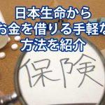日本生命でお金借りれる裏ワザをご紹介!契約者貸付制度とは